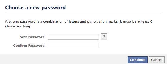 enter the new password