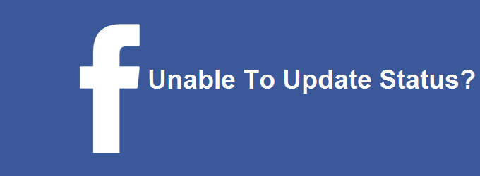status update problem in facebook