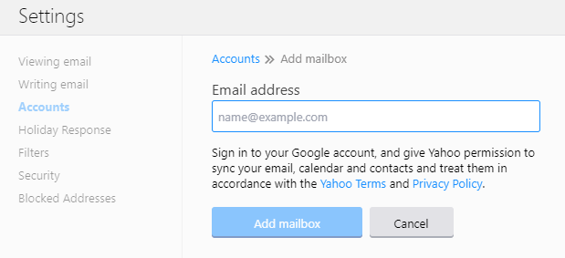 enter email address to add