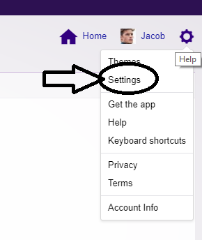 Login your account and go to settings