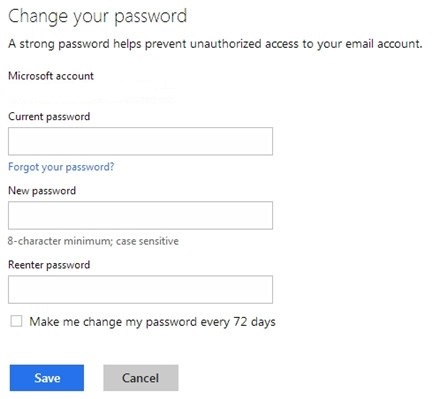 now change the old password and enter a new one