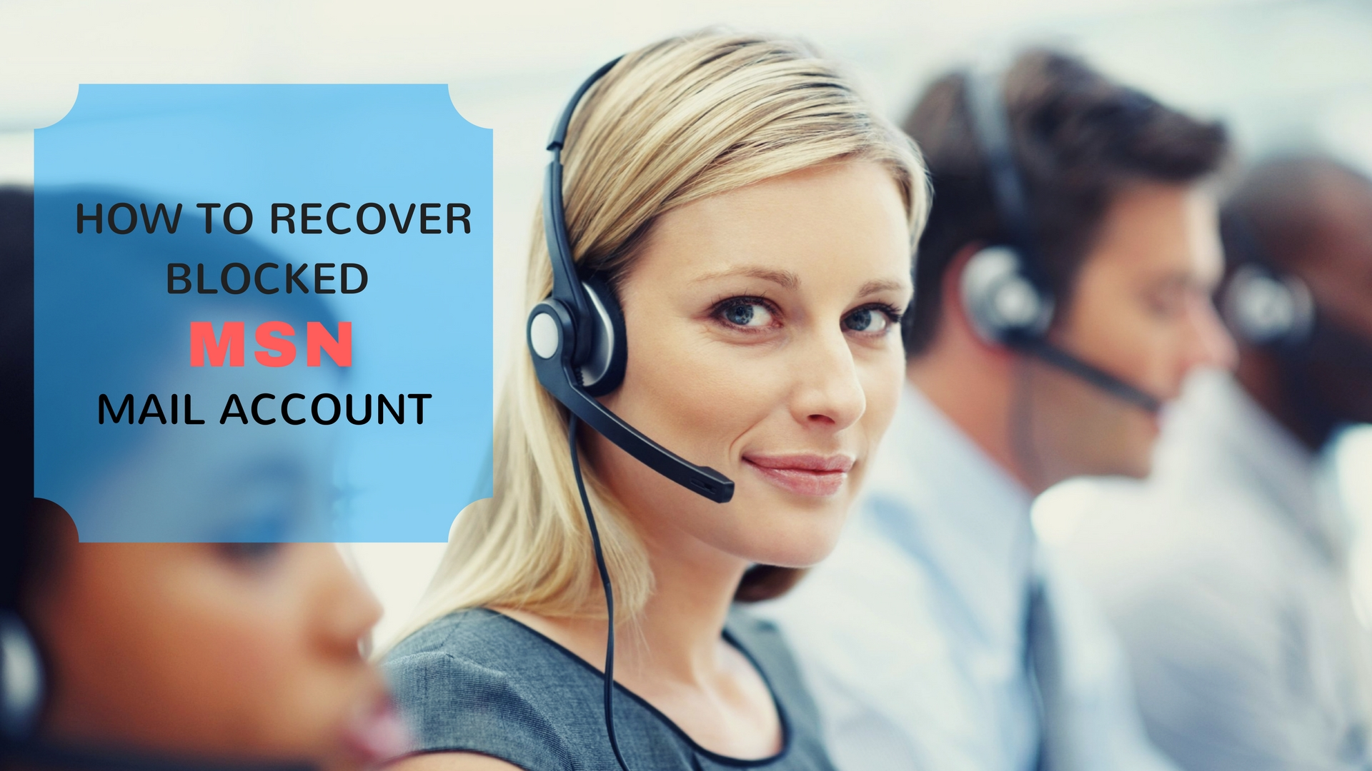 How to recover blocked MSN mail account