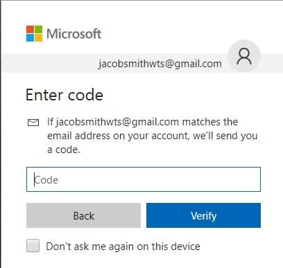 enter the code