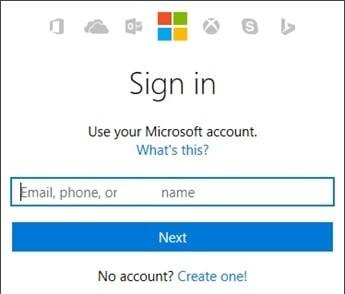enter username and click next