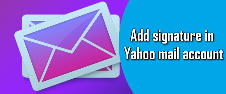 add signature yahoo mail account