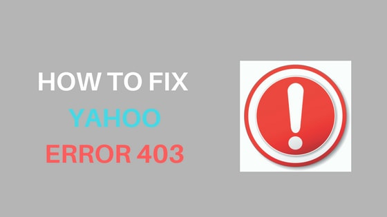 Fix Yahoo Error 403