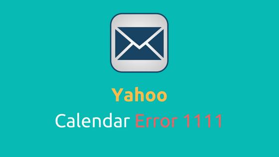 Yahoo calendar error code 1111