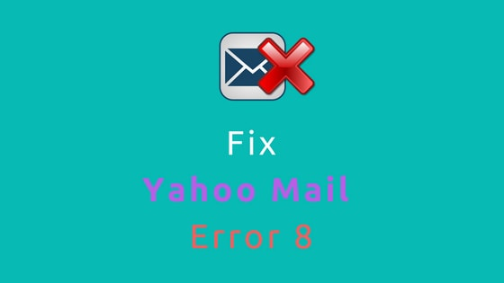 fix yahoo mail error 8