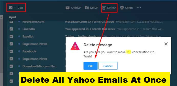 Delete All Yahoo Emails At Once