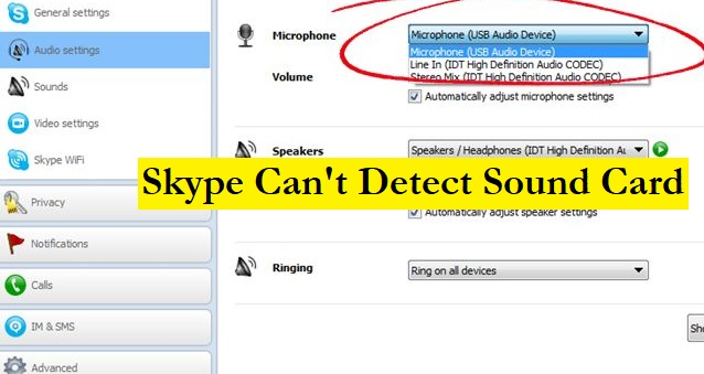 Skype sound card