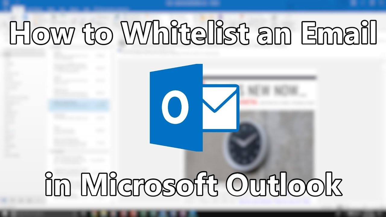 whitelist an email in outlook