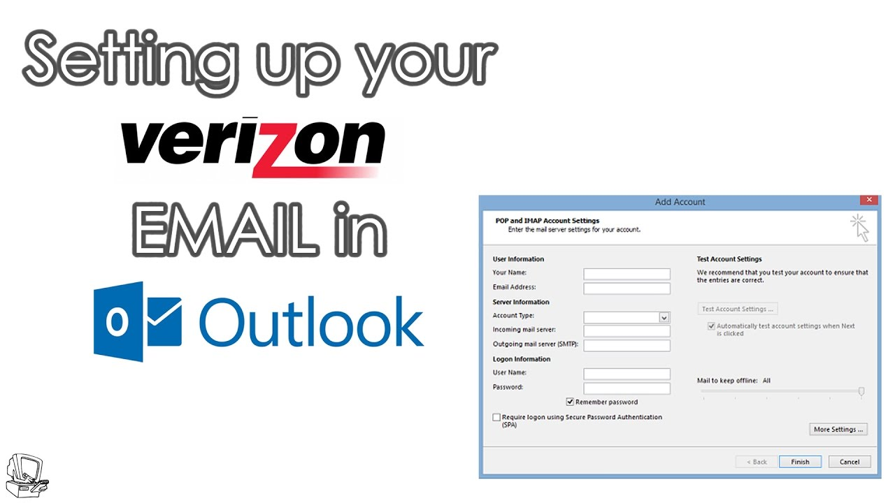 Verizon email on Outlook
